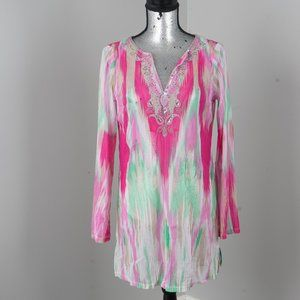 NWT stunning beach cover up - M